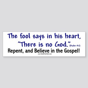 Fool Bumper Sticker